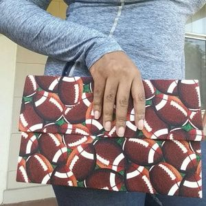 Football Clutch Purse